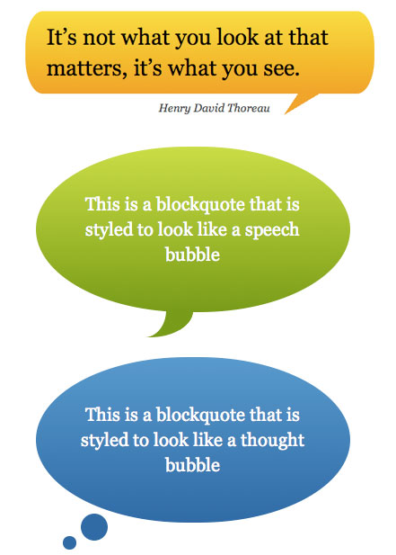 CSS Speech Bubbles
