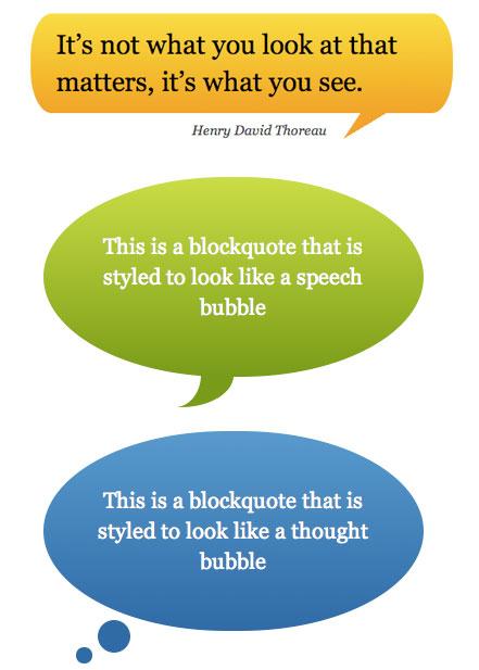CSS Speech Bubbles