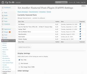 Yet Another Featured Posts Plugin for WordPress (YAFPP)