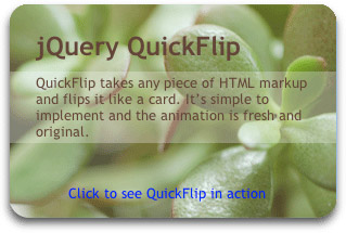 Quickflip Plugin for jQuery