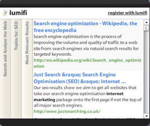 Lumifi – Web Search Without a Web Browser