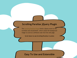 scrolling parallax example