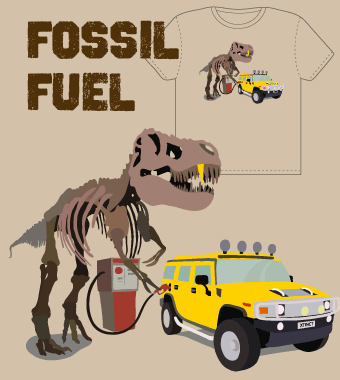 'Fossil Fuel' T-Shirt Design